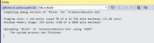 Ecran Output Visual Micro Microsoft Visual Studio 300x85 - Visual Micro pour coder Arduino avec Visual Studio