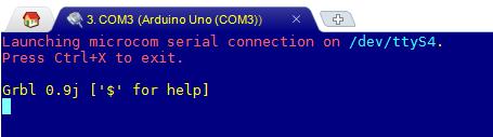 Réponse de GRBL lors d'une connection série